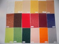 Zakladní barevnice teflonových vodoodpudivých ubrusů, hladkývh i se vzorem perokresba